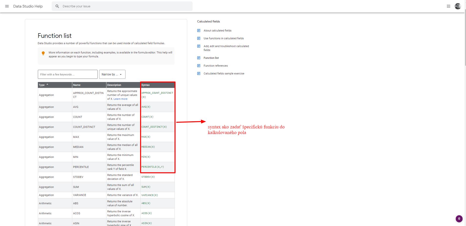 Príklady dátumu správy lokalít