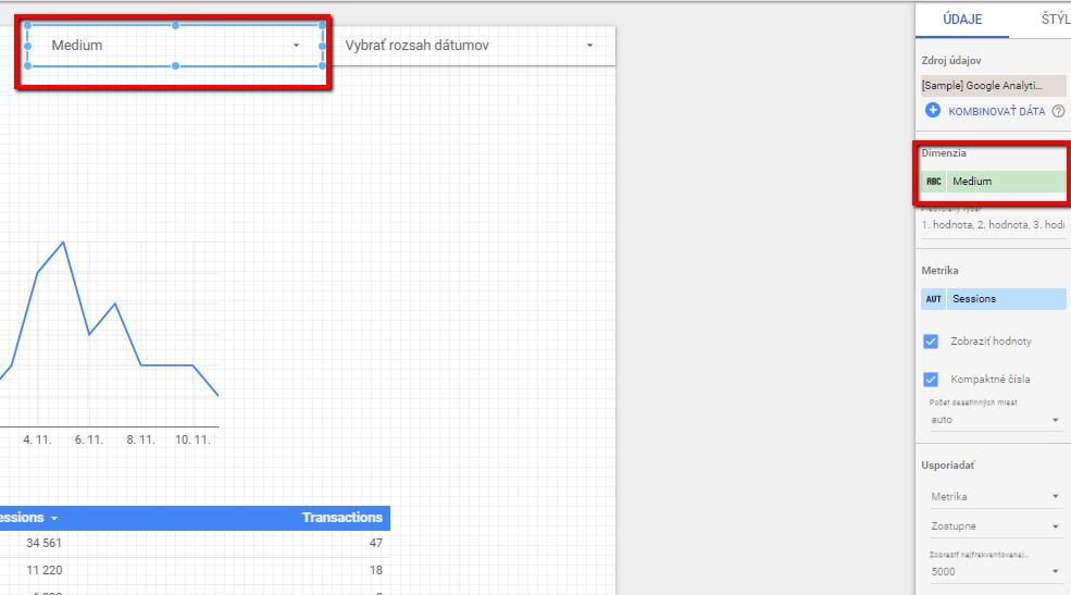 data studio - filter